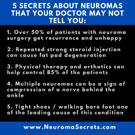 5 secrets of neuroma